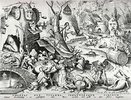 Bruegel the Elder | Gluttony, from The Seven Deadly Sins, 1558 | Giclée Paper Print