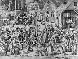Bruegel the Elder | Charity, from The Seven Virtues, 1559 | Giclée Paper Print