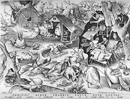 Bruegel the Elder | Sloth, from the Seven Deadly Sins, 1558 | Giclée Paper Print