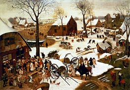 Bruegel the Elder | Census at Bethlehem, c.1566 | Giclée Canvas Print