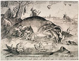 Bruegel the Elder | The Large Fishes Devouring the Small Fishes, 1557 | Giclée Paper Print