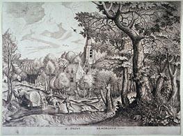 Bruegel the Elder | Pagus Nemorosus (Village in the Woods), Undated | Giclée Paper Print