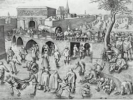 Bruegel the Elder | Skaters by St. George's Gate, Antwerp, 1553 | Giclée Paper Print