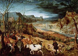 Bruegel the Elder | The Return of the Herd (Autumn) | Giclée Canvas Print