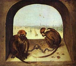 Bruegel the Elder | Two Monkeys | Giclée Canvas Print
