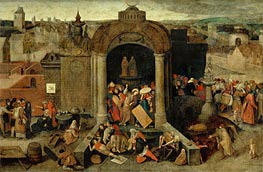 Bruegel the Elder | Christ Driving the Traders from the Temple, undated | Giclée Canvas Print