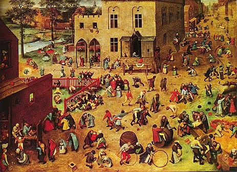 Children's Games, c.1559/60   Bruegel the Elder   Painting Reproduction