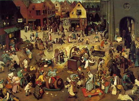 The Fight Between Carnival and Lent, 1559   Bruegel the Elder   Painting Reproduction