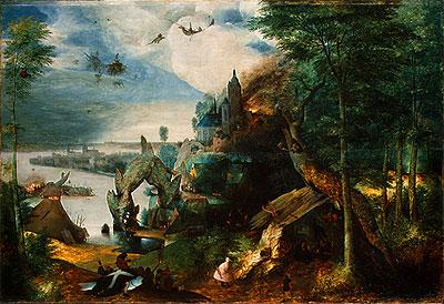 The Temptation of Saint Anthony, c.1550/75   Bruegel the Elder   Painting Reproduction