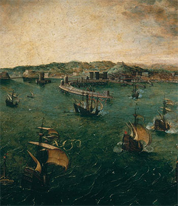 Bruegel the Elder | Naval Battle in the Gulf of Naples (Detail), c.1563 | Giclée Canvas Print