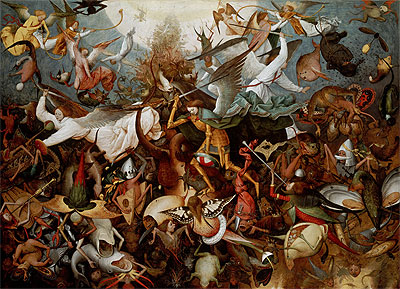 The Fall of the Rebel Angels, 1562 | Bruegel the Elder | Painting Reproduction
