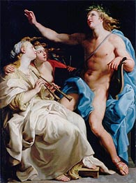 Pompeo Batoni | Apollo and Two Muses, c.1741  | Giclée Canvas Print