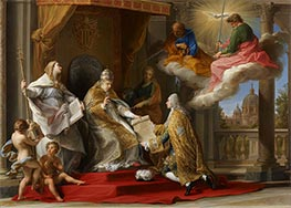 Pompeo Batoni | Pope Benedict XIV Presenting the Encyclical