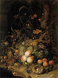 Fruit, Flowers, Reptiles and Insects on the Edge of the Forest, 1716 by Rachel Ruysch | Giclée Canvas Print