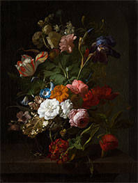 Vase with Flowers, 1700 by Rachel Ruysch | Giclée Canvas Print