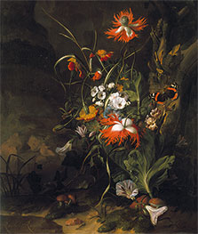 A 'Forest Floor' Still Life of Flowers, Undated by Rachel Ruysch | Giclée Canvas Print