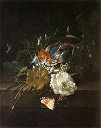 A Still-Life with a Spray of Flowers, c.1685/00 by Rachel Ruysch | Giclée Canvas Print