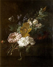 Still Life with a Spray of Flowers, c.1685/00 by Rachel Ruysch | Giclée Canvas Print