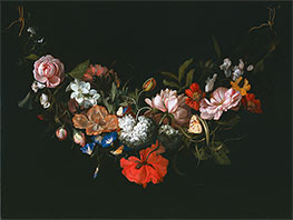 Garland of Flowers, 1683 by Rachel Ruysch | Giclée Canvas Print
