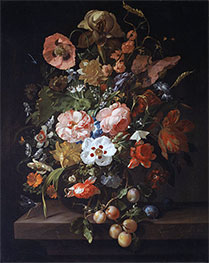 Still Life with Flowers and Fruits, 1703 by Rachel Ruysch | Giclée Canvas Print