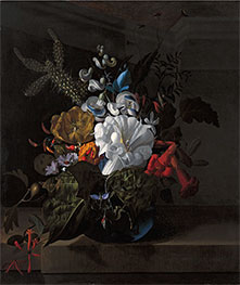 Still Life with Devil's Trumpet and Cactus, Undated by Rachel Ruysch | Giclée Canvas Print