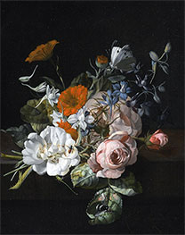 Still Life of Flowers with a Nosegay of Roses, 1695 by Rachel Ruysch | Giclée Canvas Print