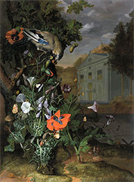 Forest Floor with a Classical Facade Beyond, Undated by Rachel Ruysch | Giclée Canvas Print