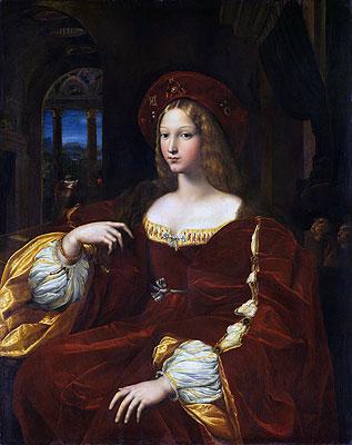 Portrait of Dona Isabel de Requesens, Vice-Queen of Naples (Portrait of Jeanne of Aragon), 1518 | Raphael | Painting Reproduction