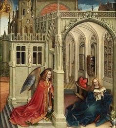 Robert Campin | The Annunciation, c.1420/25 | Giclée Canvas Print
