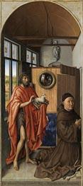 Robert Campin | Heinrich von Werl and his Patron Saint John the Baptist, 1438 | Giclée Canvas Print