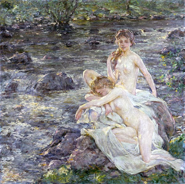The Bathers, undated | Robert Reid | Painting Reproduction