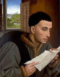 van der Weyden | A Man Reading (Saint Ivo) | Giclée Canvas Print
