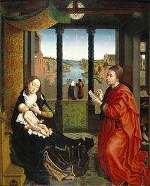 van der Weyden | Saint Luke Drawing the Virgin's Portrait | Giclée Canvas Print
