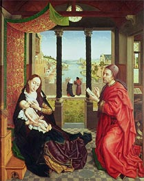 van der Weyden | St Luke Drawing the Portrait of the Madonna, c.1450 | Giclée Canvas Print