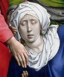 van der Weyden | Descent from the Cross (detail), c.1435 | Giclée Canvas Print