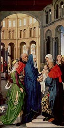 van der Weyden | The Presentation in the Temple, c.1455 | Giclée Canvas Print