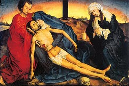 van der Weyden | Pieta (Lamentation of Christ), c.1450 | Giclée Canvas Print