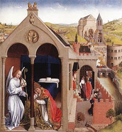 van der Weyden | Dream of Pope Sergius, c.1437/40 | Giclée Canvas Print
