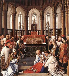 van der Weyden | The Exhumation of Saint Hubert, c.1430/40 | Giclée Canvas Print