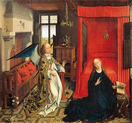 van der Weyden | The Annunciation, undated | Giclée Canvas Print
