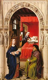 van der Weyden | Naming of John the Baptist (Saint John Altarpiece), c.1455/60 | Giclée Canvas Print