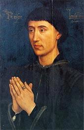 van der Weyden   Portrait of Laurent Froimont, c.1460/75   Giclée Canvas Print