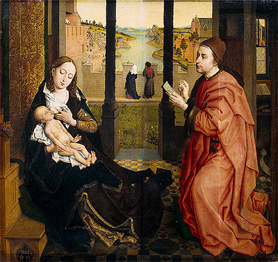 St Luke Drawing the Virgin, undated | van der Weyden | Painting Reproduction