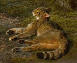 Rosa Bonheur | Wild Cat, 1850 | Giclée Canvas Print