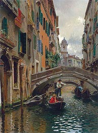 Rubens Santoro | A Quiet Canal, Venice | Giclée Canvas Print