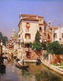Rubens Santoro | Gondoliers on a Venetian Canal, undated | Giclée Canvas Print