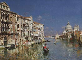 Rubens Santoro | Gondola Ride, the Grand Canal, Venice | Giclée Canvas Print