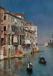 Rubens Santoro | Gondolas at the Entrance to the Grand Canal | Giclée Canvas Print