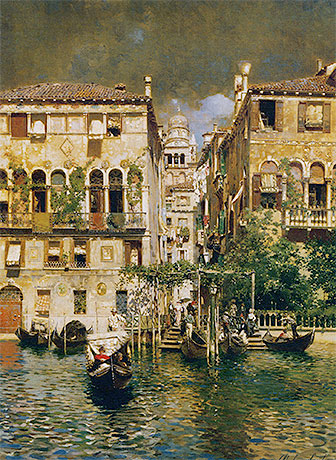 Leaving a Residence on the Grand Canal, undated | Rubens Santoro | Painting Reproduction