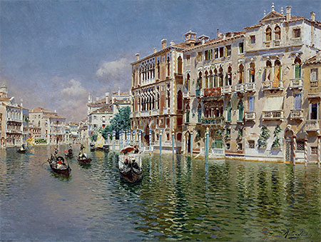 Grand Canal, Venice, undated | Rubens Santoro | Painting Reproduction